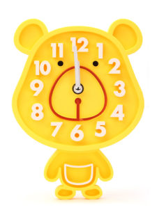 Rabbit Small Wall Clock - Yellow