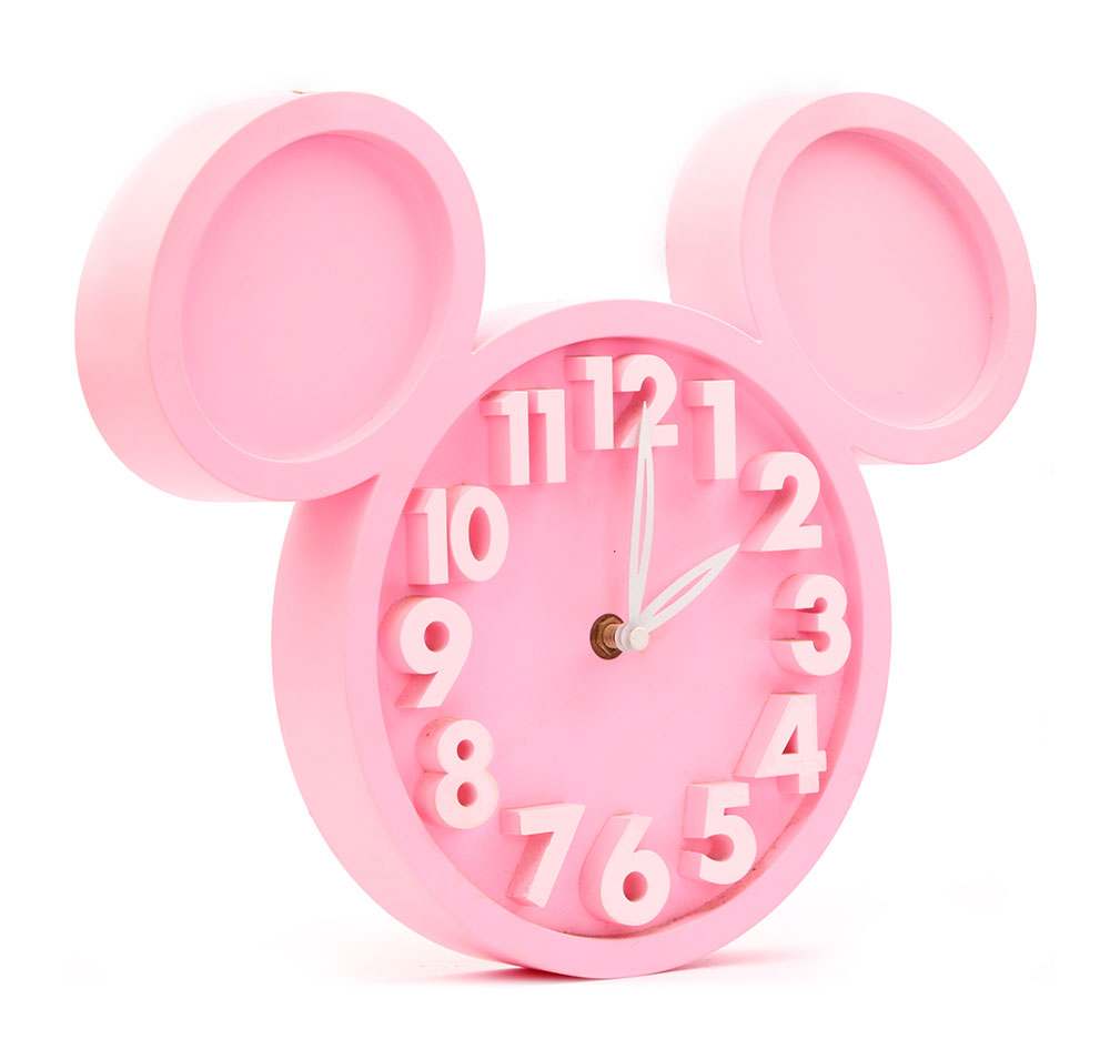 Buy Rabbit Wall Clock Pink Online In India Kheliya Toys