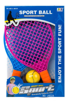 Racket Set Plastic With Ball
