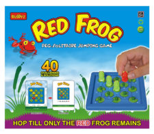 Red Frog Peg Solitaire Jumping Game