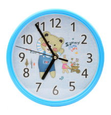 Teddy Wall Clock - Blue