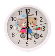 Teddy Wall Clock - White
