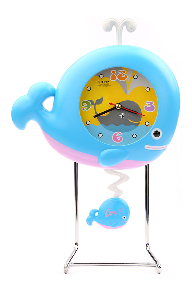Buy Whale Fish Table Clock Blue Online In India