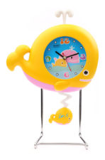 Whale Fish Table Clock - Yellow