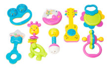 Baby Rattle Set PVC Bag