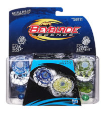 Beyblade 2-Pack Balance Top - Dark Wolf & Poison Serpent