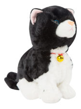 Dancing Soft Cat With Music - Black