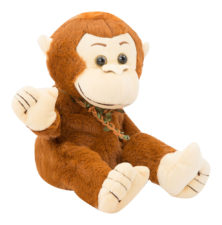 Dancing Soft Monkey With Music - Brown 27482