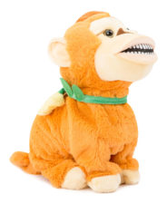 Dancing Soft Monkey With Music - Orange 27467