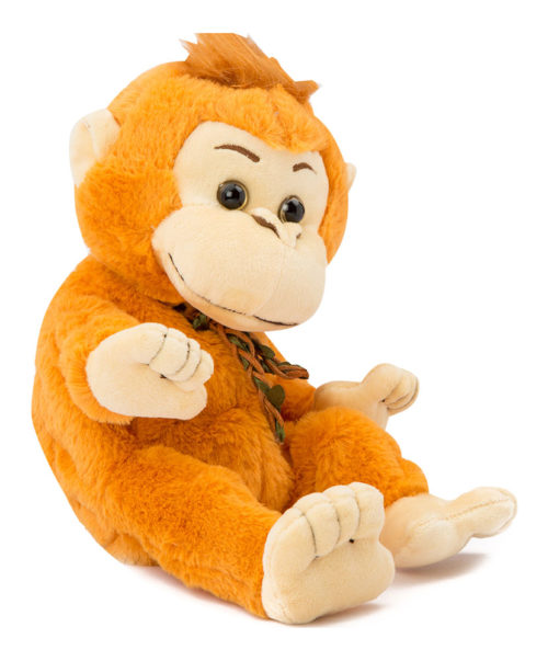 Dancing Soft Monkey With Music -  Orange 27482