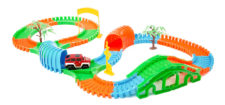 Flexible Track Set With Single Car