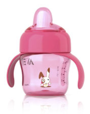 Philips Avent Soft Spout Cup 200ml - 6 Months Pink