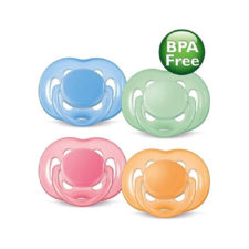 Philips Avent Soother Free Flow - 6 To 18 months - Colour May Vary