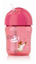 Philips Avent Straw Cup 260ml - 12 Months Pink