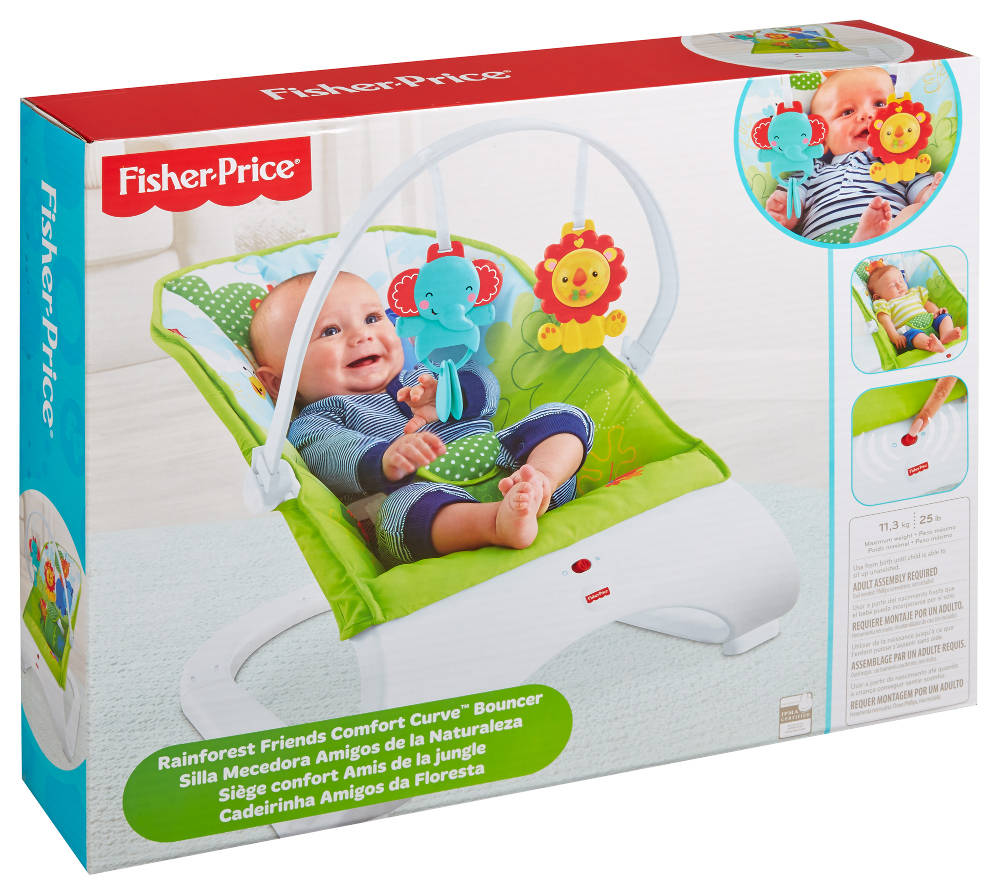 buy fisher price rainforest comfort curve bouncer ckr34