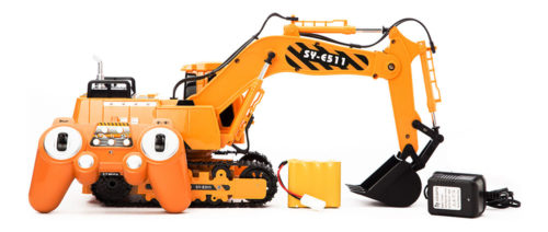 Remote Control JCB With Sound - Yellow