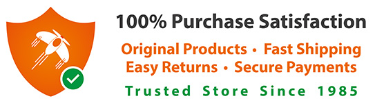 100% Purchase Satisfaction. Fast Shipping, Easy Returns, Secure Payments