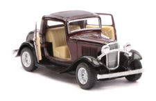 1932 Ford 3-Window Coupe Vintage Scale Model 1/34 Brown