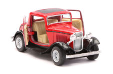 1932 Ford 3-Window Coupe Vintage Scale Model 1/34 Red