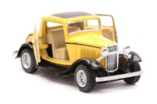 1932 Ford 3-Window Coupe Vintage Scale Model 1/34 Yellow