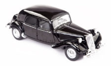 1952 Citroen 15Cv 6 Cyl Special Edition Scale Model 1/18 Black 1