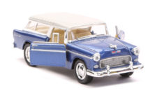1955 Chevy Nomad Scale Model 1/40 Blue