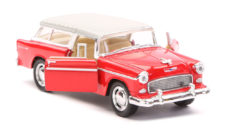 1955 Chevy Nomad Scale Model 1/40 Red