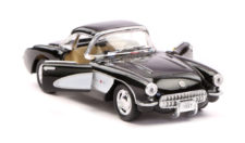 1957 Chevrolet Corvette Scale Model 1/34 Black