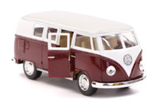 1962 Volkswagen Classical Bus Scale Model 1/32 - Dark Red