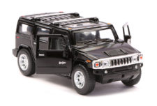 2008 Hummer H2 SUV Scale Model 1/40 Black