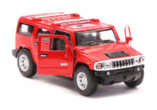 2008 Hummer H2 SUV Scale Model 1/40 Red