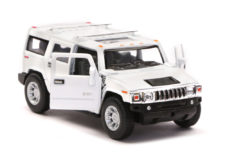 2008 Hummer H2 SUV Scale Model 1/40 White