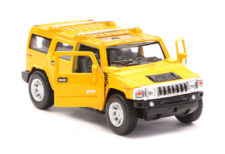 2008 Hummer H2 SUV Scale Model 1/40 Yellow