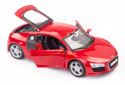 Audi R8 Scale Model 1/24 Dark Red