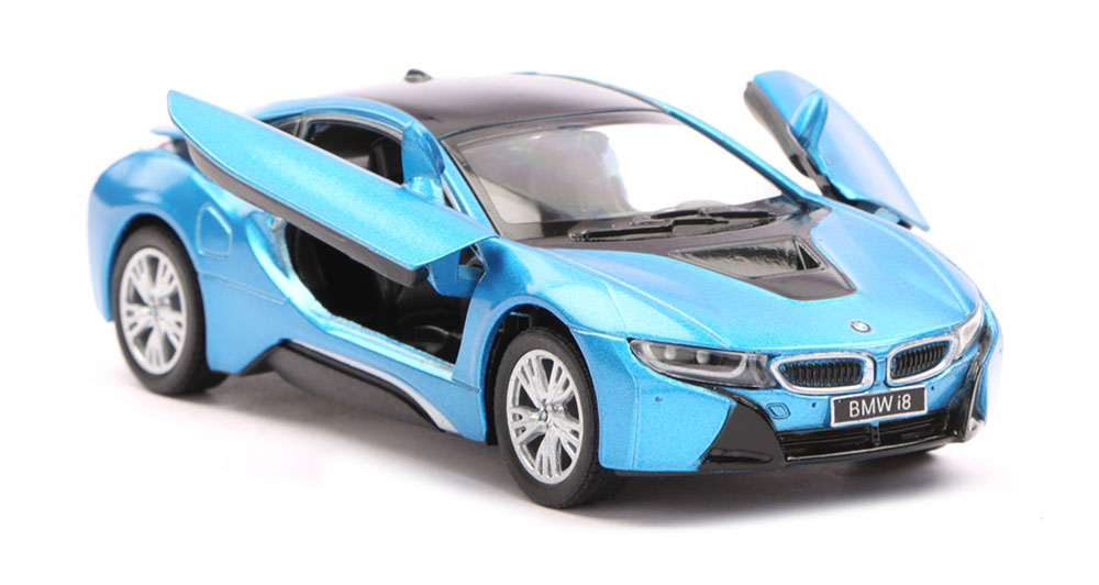 Buy Bmw I8 Scale Model 1 36 Blue Black Online In India Kheliya Toys
