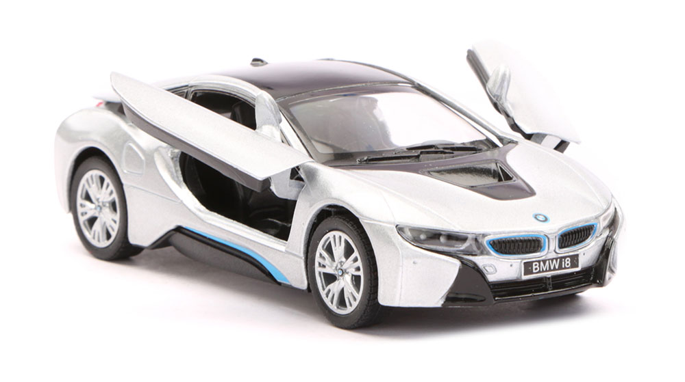 Buy Bmw I8 Scale Model 1 36 Silver Black Online In India Kheliya