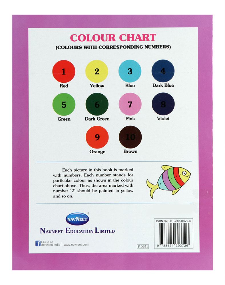navneet fun with colour by numbers part 1 - Fun Pictures To Colour In 2