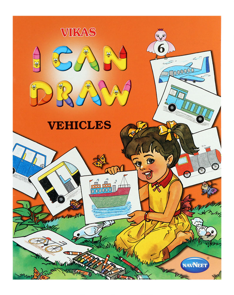 Cover Page Of Drawing Book : Buy navneet i can draw vehicles online in india