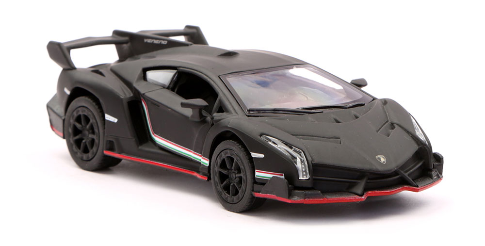 Buy Lamborghini Veneno Scale Model 1/36 - Matte Black Online In ...