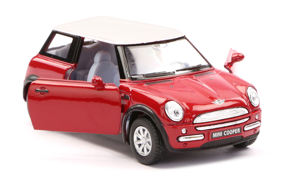 buy mini cooper scale model 1 28 red online in india kheliya toys. Black Bedroom Furniture Sets. Home Design Ideas