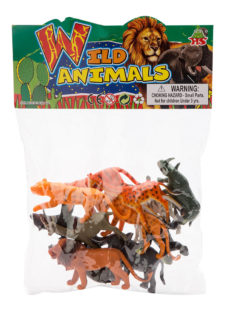 Assorted Wild Animals 12pc HB9810-12