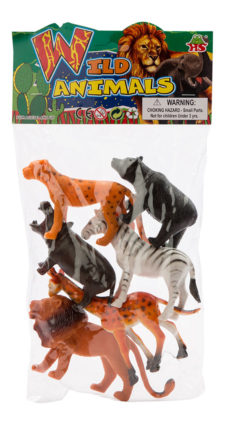 Assorted Wild Animals 6pc HB9925-6