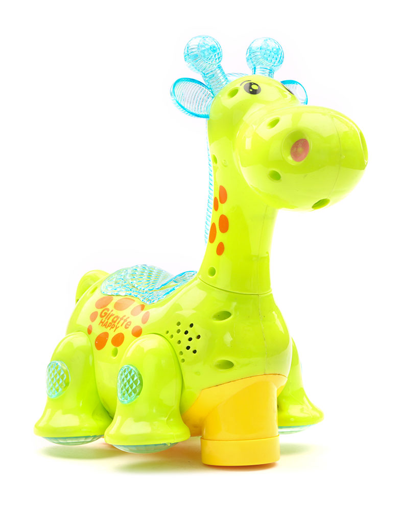 Battery Operated Giraffe Projector Light And Sound - Green