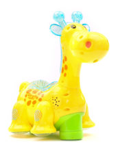 Battery Operated Giraffe Projector Light And Sound - Yellow