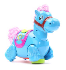 Battery Operated Horse With Light And Sound Blue