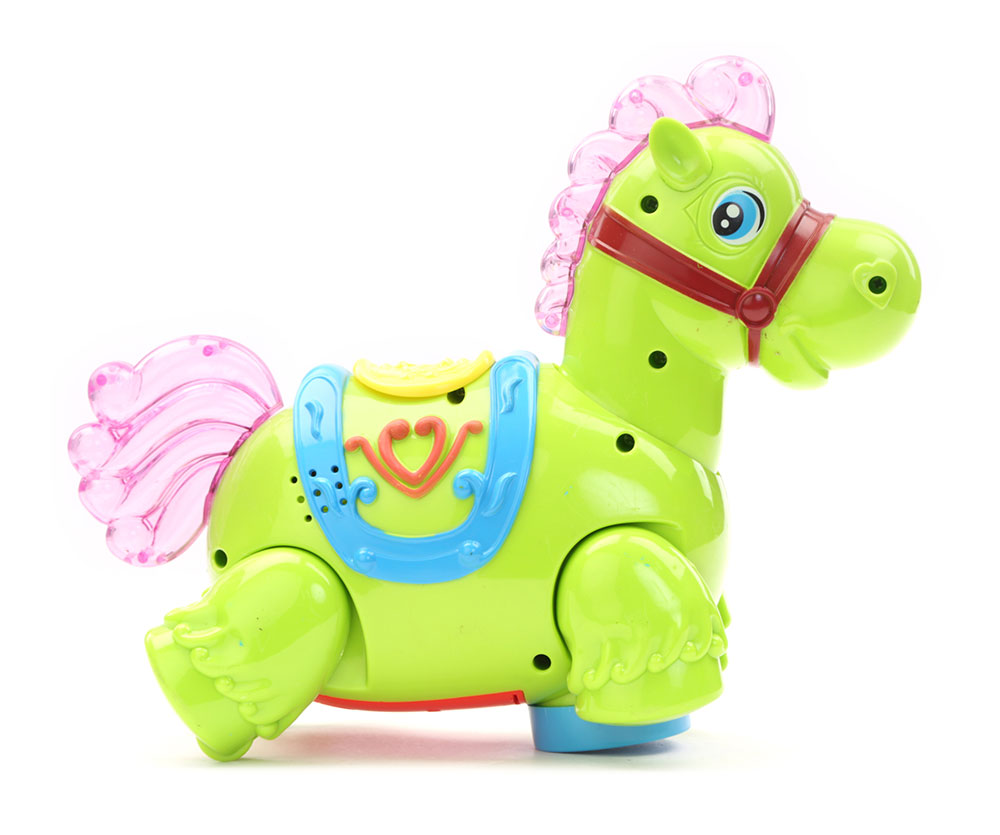 Buy Battery Operated Horse With Light And Sound Green