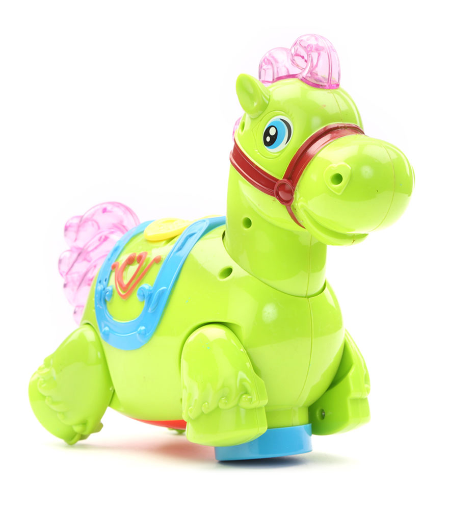 Battery Operated Horse With Light And Sound Green