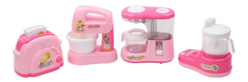 Battery Operated Household Set - Toaster-Egg Whisk-Coffee Machine-Food Processor