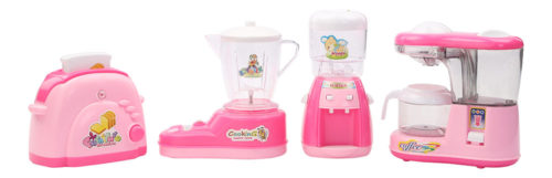 Battery Operated Household Set - Fruit mixer, Water dispenser, Coffee machine And Toaster