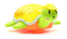 Battery Operated Turtle Projector Light And Sound - Yellow